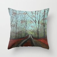 Misty Forest Throw Pillow