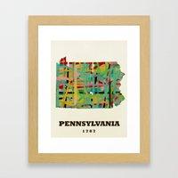 Pennsylvania State Map M… Framed Art Print