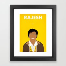 The Big Bang Theory - Rajesh Framed Art Print