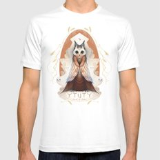 Ytuty Lord of Owls Mens Fitted Tee White SMALL