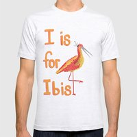 I is for Ibis Mens Fitted Tee Ash Grey SMALL