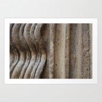Wavy Stone Art Print