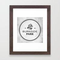 Burnside Park Framed Art Print
