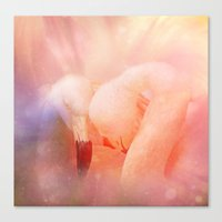 Flamingo Love Canvas Print