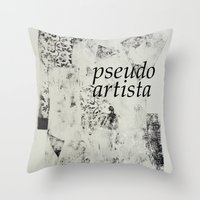 PSEUDOARTISTA Throw Pillow