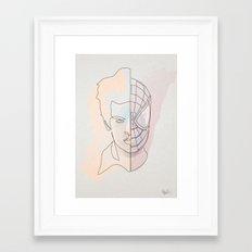 One Line Spiter Parkerman Framed Art Print