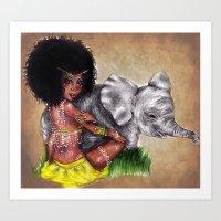African Princess Art Print