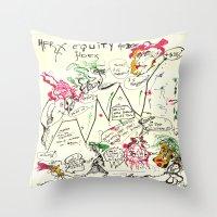 Econographics Throw Pillow