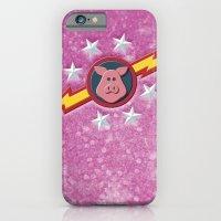 Swinetrek Logo Glitter Poster iPhone 6 Slim Case