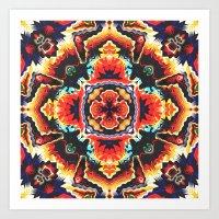 Geometric Motif Art Print