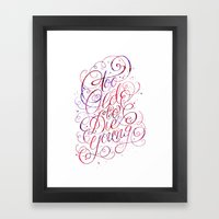 Too Old To Die Young Framed Art Print