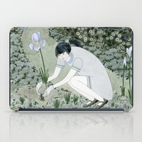 Planting Irises iPad Case