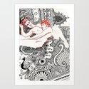 Henna Lovers Art Print