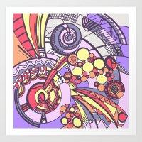 my doodles 3B Art Print