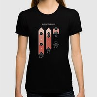 Know Your Meat Womens Fitted Tee Black SMALL