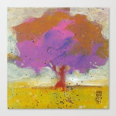 The tree with fucsia leaves Canvas Print
