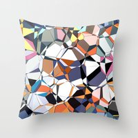 Abstract Geometric Chaos Throw Pillow