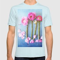 Wild Flowers and Spring Asparagus Mens Fitted Tee Light Blue SMALL