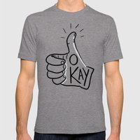 Okay Mens Fitted Tee Tri-Grey SMALL