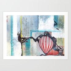 A Contrast Of Currents Art Print