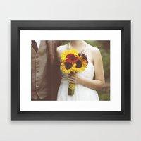 Man & Wife Framed Art Print