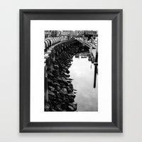 along the shore Framed Art Print