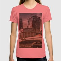 London North Bank Womens Fitted Tee Pomegranate SMALL