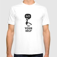 Go Duck Yourself Mens Fitted Tee White SMALL