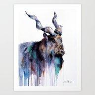 Art Print featuring Goat 3 by Slaveika Aladjova