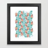 cactus skin all-over Framed Art Print