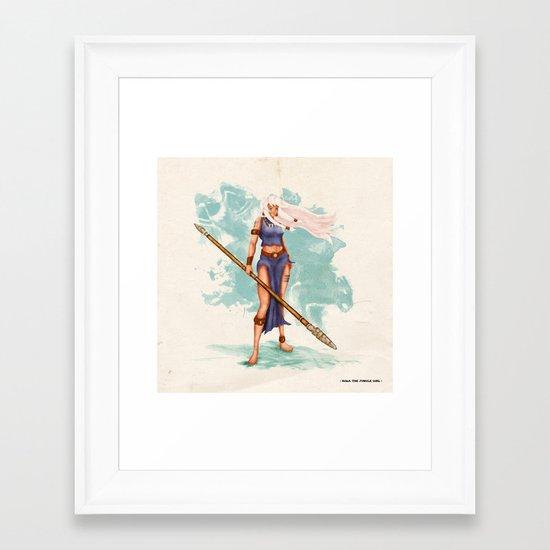 Rima The Jungle Girl Framed Art Print
