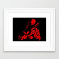Red Dawn Framed Art Print