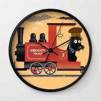 Groovy train Wall Clock