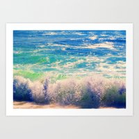 Aqua Mist Art Print