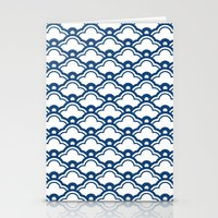 matsukata in monaco blue Stationery Cards