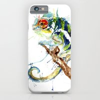 iPhone & iPod Case featuring My Chameleon by Meg Ashford