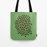 Minty Forest Tote Bag