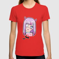 Kawaii Gurl Womens Fitted Tee Red SMALL