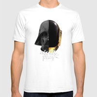 Darth Punk Mens Fitted Tee White SMALL