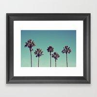 California Palm Trees Framed Art Print