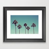 California Palm Trees Framed Art Print