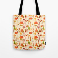 woods pattern Tote Bag