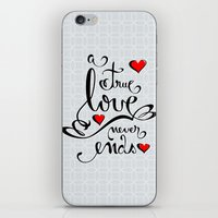 Valentine Love Calligraphy and Hearts iPhone & iPod Skin
