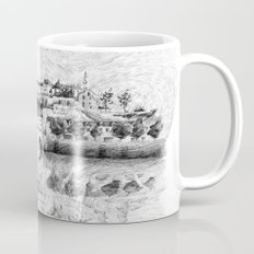 Terrasson village - Black ink Mug