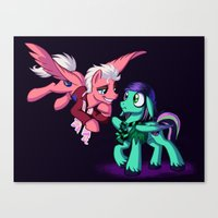 Mad T Ponies 'Mally and Thackery' Canvas Print