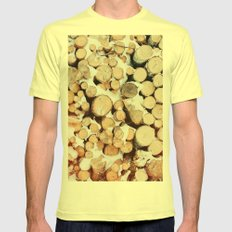 Firewood Mens Fitted Tee Lemon SMALL