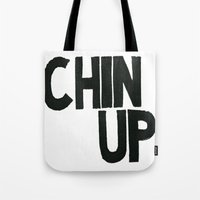 Tote Bag featuring Chin Up by Julia Hendrickson