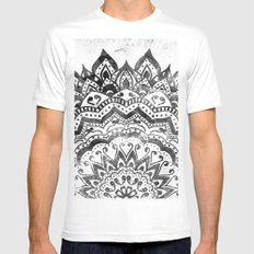 ORION JEWEL MANDALA Mens Fitted Tee White SMALL
