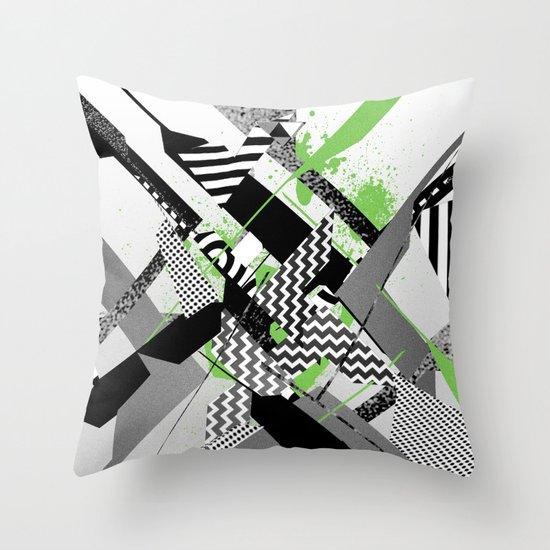 Geometric Digital Throw Pillow