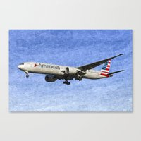 American Airlines Boeing… Canvas Print